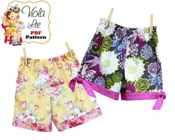 Boutique style Shorts, Girls Shorts Pattern, Girls Sewing Pattern ...