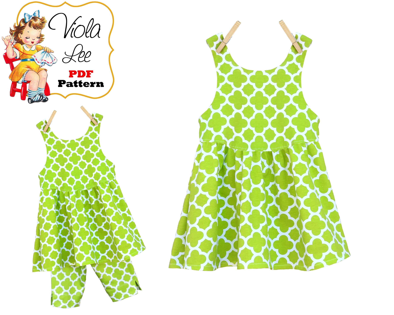 Girls Knit Fabric Dress & Top pdf Pattern. Girls Easy Sewing   Etsy