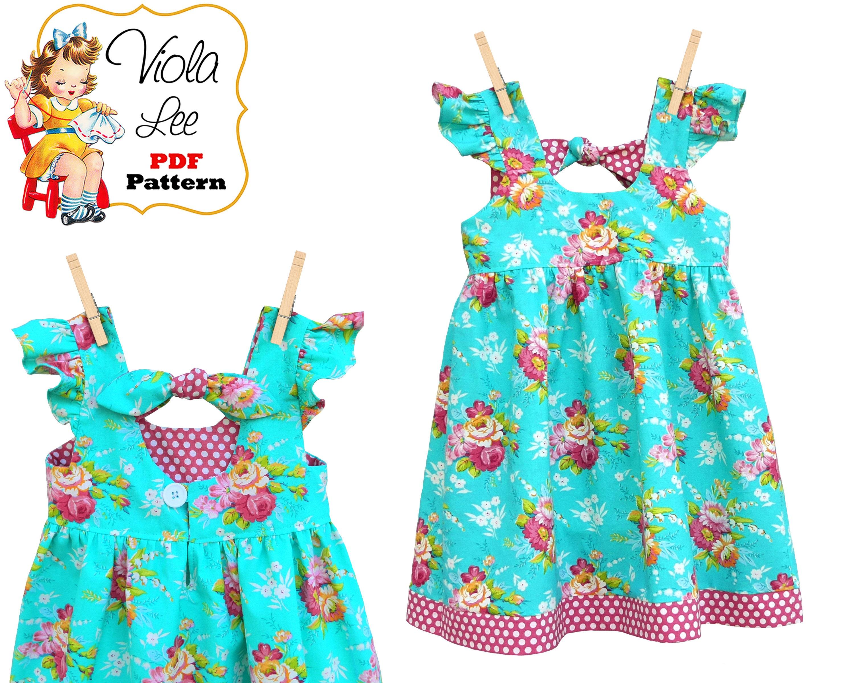 Sewing Patterns. Girls Summer Sundress. Girls Dress Pattern | Etsy
