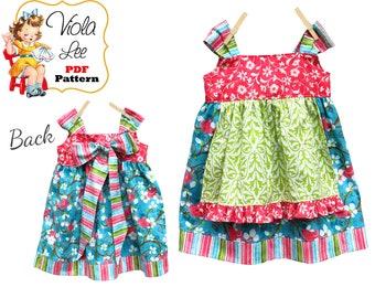 Girls Apron Knot Dress Pattern. Girls Jumper Pattern. Toddler Dress Pattern, Girls Dress Pattern. pdf Pattern. Girl's Sewing Pattern Josie
