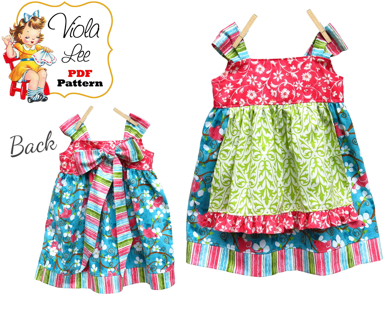 Girls Dresses Girls Apron Dress Pattern pdf. Jumper Pattern.   Etsy