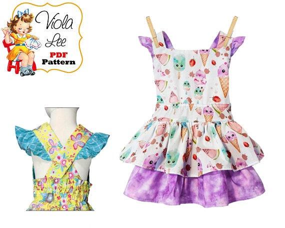 e08181e010f5 Girls Dress Sewing Pattern Toddler Dress Pattern. Summer
