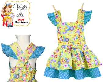 Toddler Dress Patterns, Toddler Sewing Patterns. Girls Summer Dress pdf Sewing Pattern. Toddler Sundress, Girls Dress, pdf Download Maryana