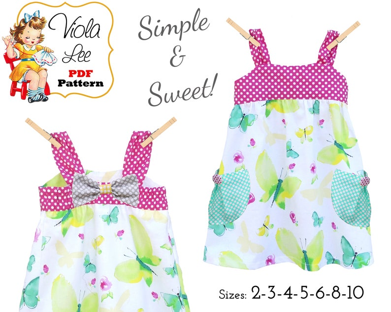 50fbee0e6 Quick & Easy Girls Summer Dress Sewing Pattern PDF. Toddler | Etsy