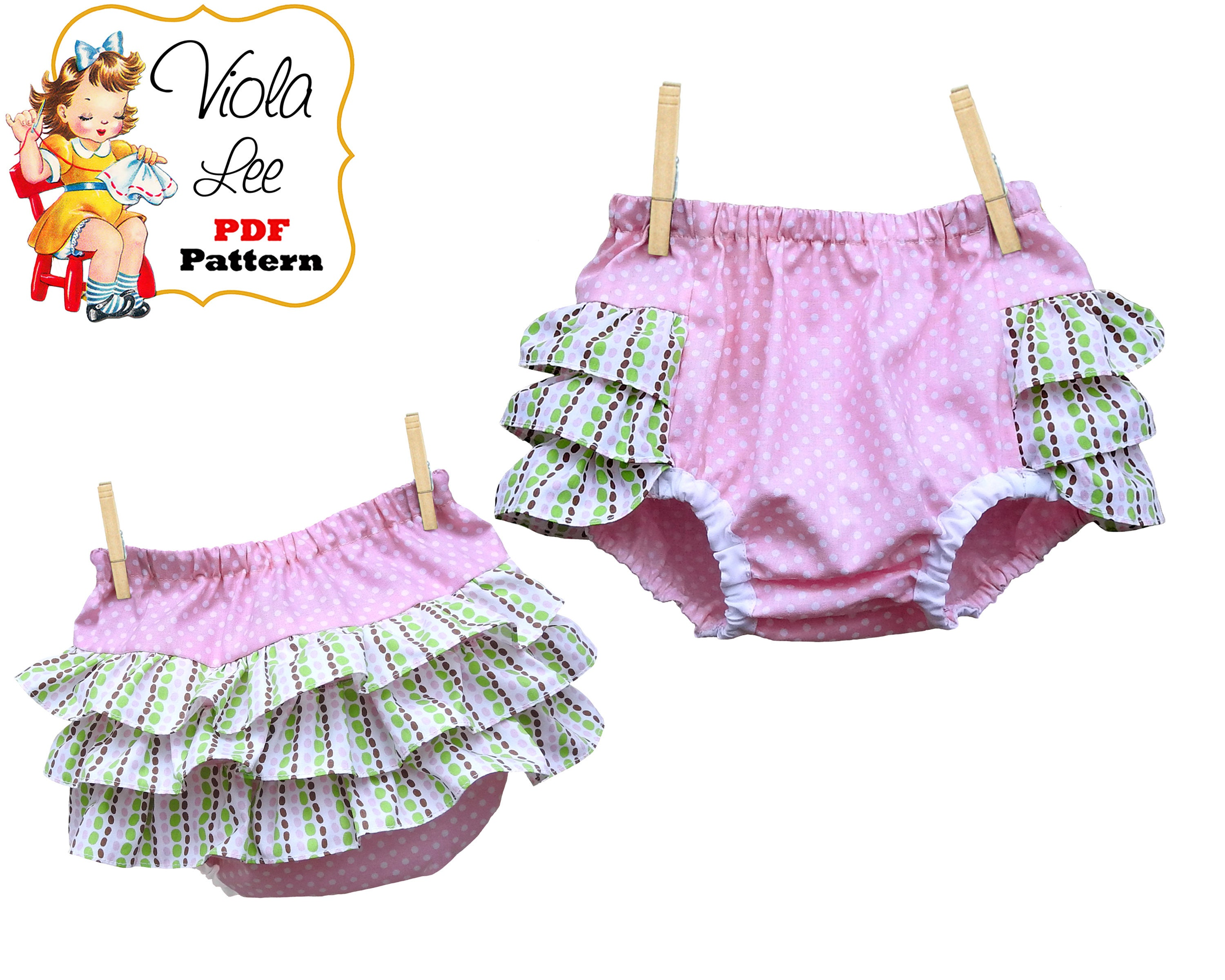 8f67c0f40f1e Baby Sewing Pattern pdf. Girls Ruffle Diaper Cover Pattern