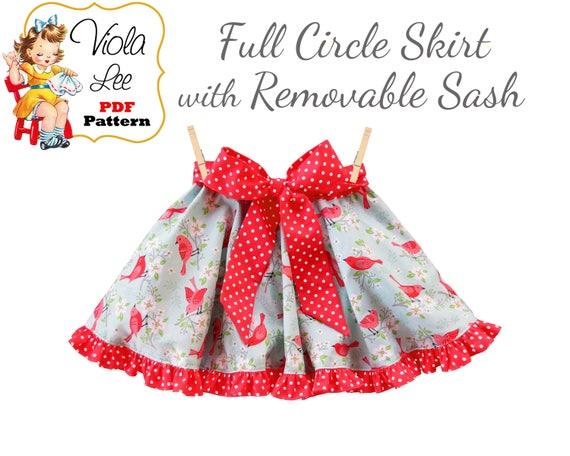 Easy Full Circle Skirt Pattern Pdf Toddler Skirt Pattern Pdf Etsy