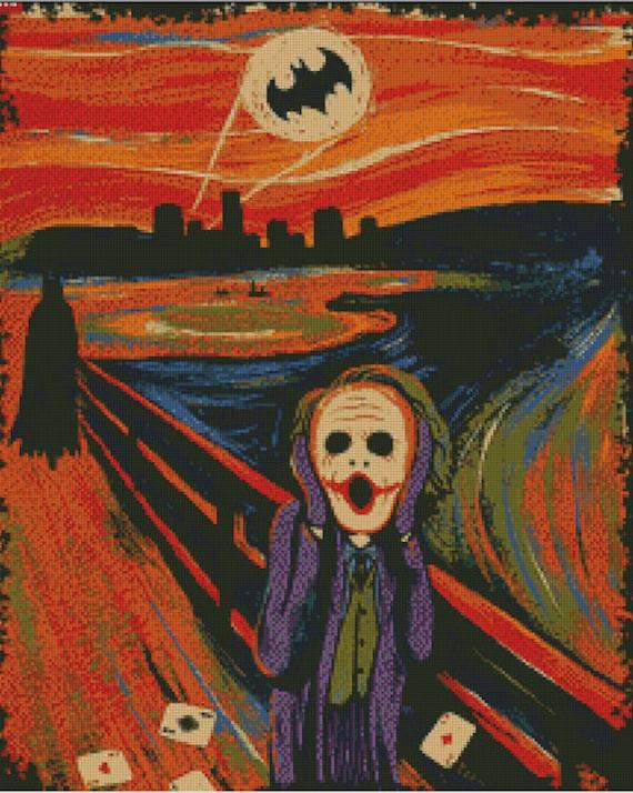 Batman Joker Scream Cross Stitch Pattern