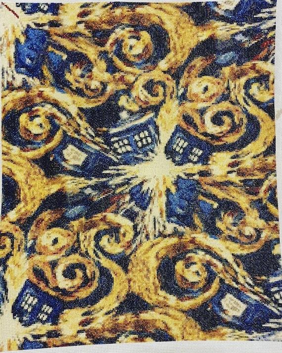 Doctor Who Men/'s Van Gogh Exploding Tardis Hoodie