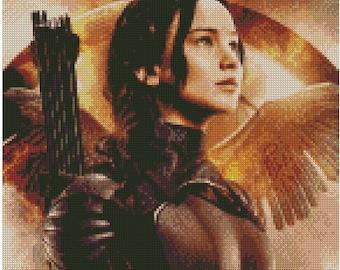Mockingjay Katniss Cross Stitch Pattern