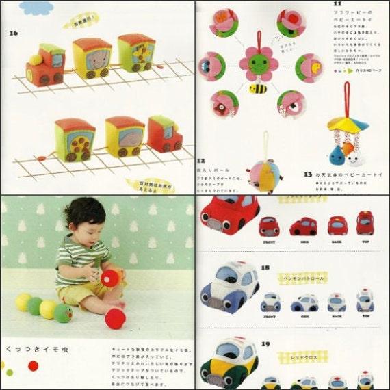 Patrones de peluches juguete suave del bebé fieltro Kawaii | Etsy