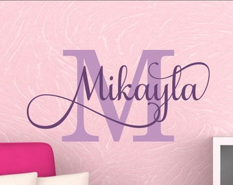 Name Wall Decal Girl Name Wall Decal Personalized Girl Name Decal Baby Girl Nursery Name Decal Nursery Wall Decal Wall Decor Custom Gold