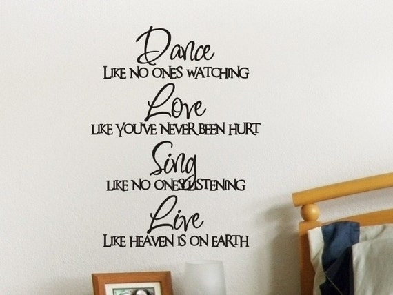 SING LIKE NO ONE IS LISTENING wall quote decor sticker bedroom decal