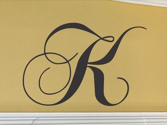 Beautiful Letter Initials Wall Decor Adornment - Wall Art ...