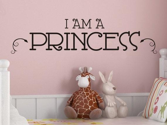 Princess Wall Art - I Am A Princess - Girls Bedroom Wall Decal