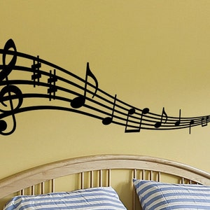 Music Notes Wall Art Musical Notes Wall Decal Music Note Wall Etsy