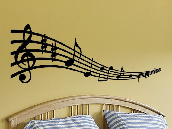 music notes wall art musical notes wall decal music note wall | etsy