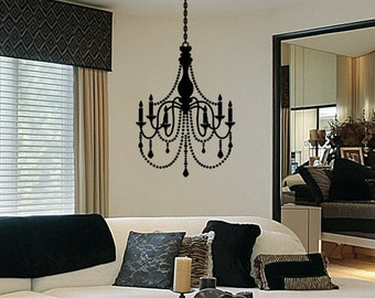 Chandelier Wall Art - Chandelier Wall Decal - Vinyl Wall Decal - Nursery Wall Decal - Girl Room Wall Decor - Wall Decal For Girl Personalize