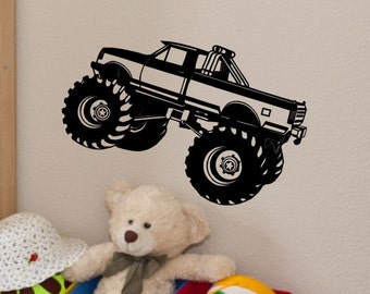 Large Monster Truck Wall Decal - Kids Bedroom Wall Decor