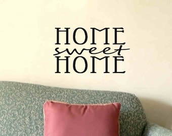 Wall Quote Decal Home Sweet Home Living Room Foyer Wall Decor