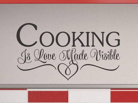Koken is liefde keuken muur sticker keuken wall decor etsy