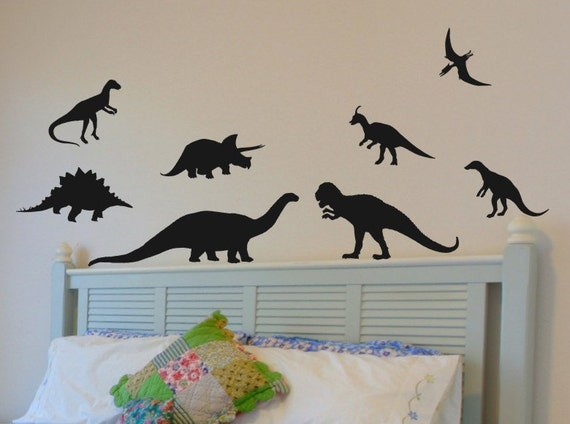 Dinosaur Wall Stickers Kids Bedroom Decal Bed Room Decor Baby   Etsy