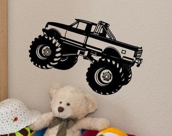 Monster Truck Wall Decal Monster Truck Wall Decor Kids Bedroom Decor Baby Boy Nursery Boys Room Monster Truck Theme Vinyl Sticker