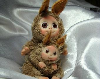 Brown Kangaroo Baby,  Lucky Charm, Cute Baby Doll, Christmas Stocking Stuffer, Christmas decoration, Birthday gift, Gift for her