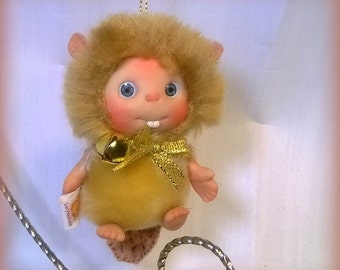 BEIGE Brown Beaver  Baby,  Cute Baby Doll,  Decoration by Larysa Champagne