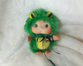 Green Frog  Baby, Green Cute Baby Doll,  Decoration Christmas