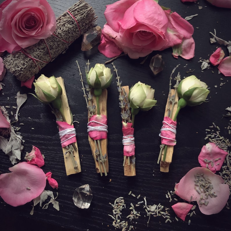 Palo Santo Rose and Lavender Burning Bundle