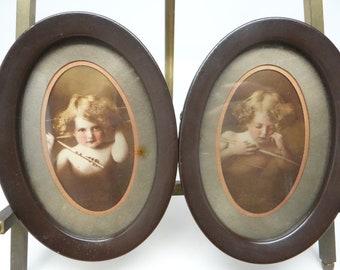 "LARGE 19/"" x 13/"" Victorian CUPID ASLEEP 1897 Parkinson CANVAS Giclee Art Print"
