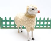 Antique 1930 39 s German 3 Inch Wooly Sheep, for Putz or Christmas Nativity Putz or Creche, Vintage Decor