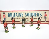 5 Vintage 1950 39 s Old Britains Soldiers in Original Box, Lead Soldiers, Piper