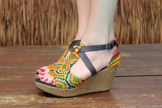 sandales femmes Hmong ethnique Vegan color 08qSA