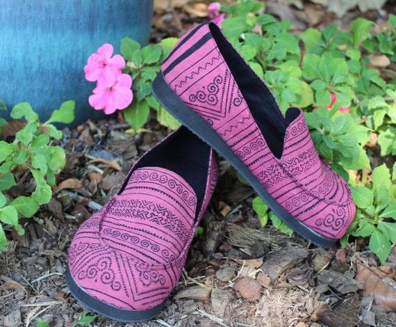 Pink Casual Womens On Shoe Batik Jesse Hmong Vegan Loafers qOOwRU6