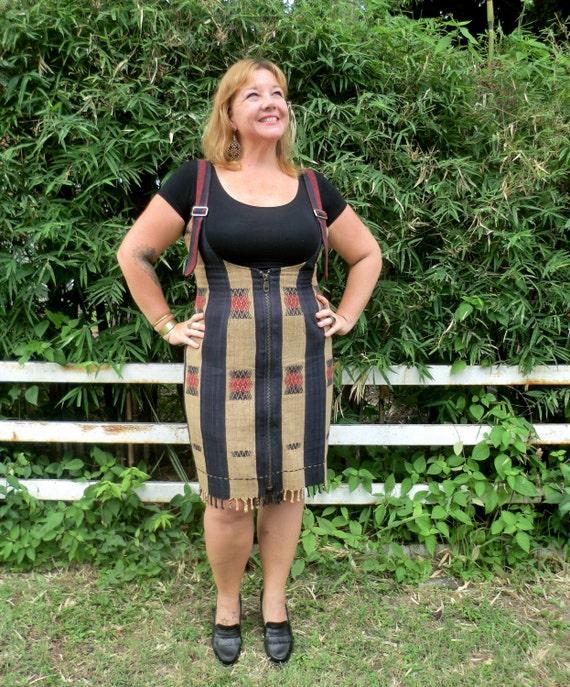 Fringe Fashion Naga Jumper Hem With Bold Dress Jemma Womens Tribal Zippered Ethical qOwPgUOa0x