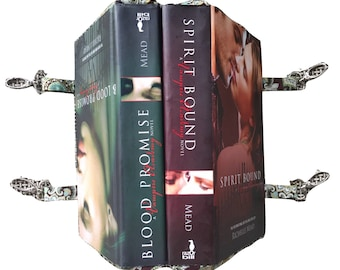 DOUBLE BOOK PURSE - Two Books Made into One Purse - Spirit Bound & Blood Promise by Richelle Mead - Vampires