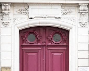 Paris Photography - The Wine-Colored Door, Ornate, Architectural Fine Art Photograph, Urban Home Decor