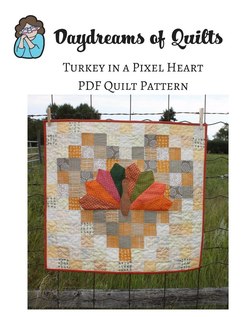 Turkey Quilt Pattern Thanksgiving Quilt Pattern Fall Mini image 0