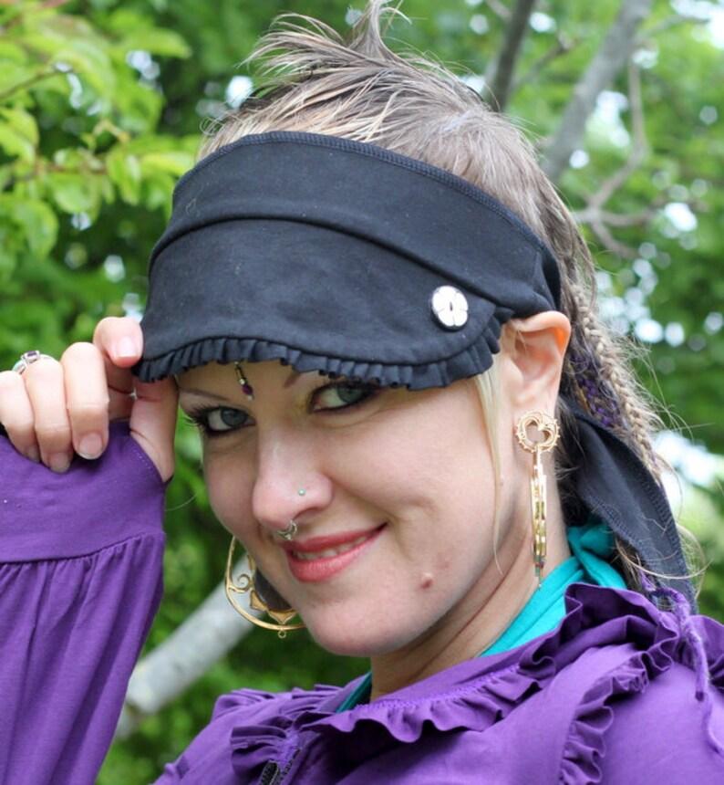 Adorable Ruffle Visor Headband LAST ONE