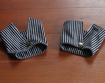 Black and White Striped Cuffs for men or women.