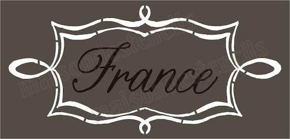a6aa078435 Euro Stencil Designs France in scroll Chalk Frame 5.5x11.5