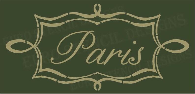 3c741f5fa7 Euro Stencil Designs Paris in scroll Chalk Frame 5.5x11.5