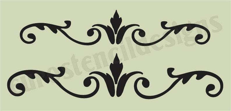 64e5ec22a6 Euro Stencil Designs Flourish D 2 sizes 5.5 x 11.5