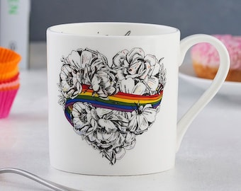 Love is Love LGBTQ Pride Mug - Fine Bone China