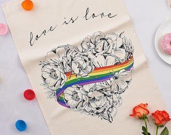 Love is Love LGBTQ Pride Tea Towel