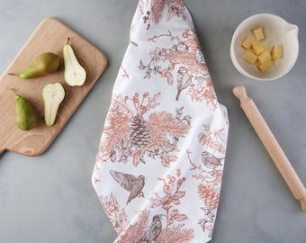 Autumn Garden Tea Towel