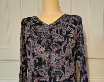 Firefly River Tam Kaylee Frye Zoe Purple Paisley Cosplay Top - Ready to Ship