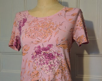 Pink and Orange Floral Kaylee Frye Firefly Cosplay Tee - Ready to Ship