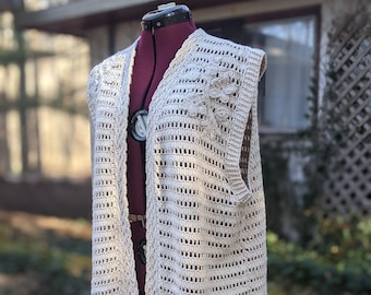 River Tam Cosplay Crocheted Knitted Vest Shawl Firefly Serenity - Ready to Ship